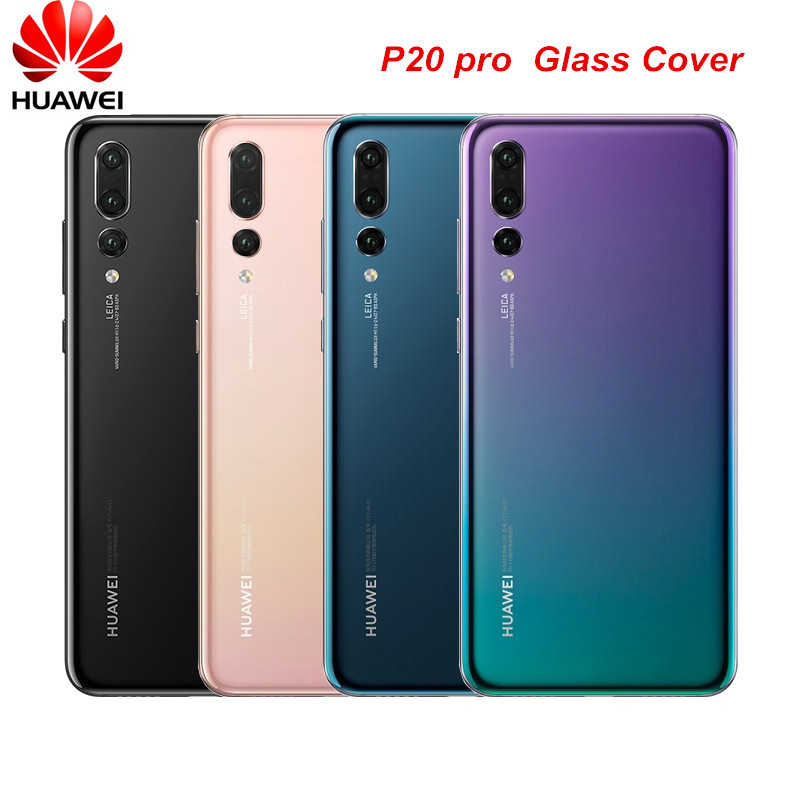 Original Huawei P20 pro Glass Housing Cover Replacement Back Rear Door Battery Case P20 pro Housing Cover With Adhesive Sticker|Mobile Phone Housings & Frames| |  - title=