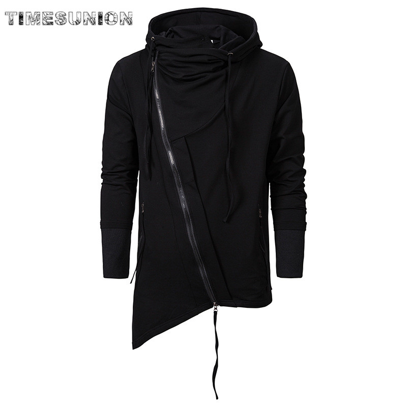 2020 New Assassin Creed Men Hoodies Sweatercoat Dark Tie Hoodie Hip Hop Gothic Loose Sportswear Long Cloak Sweatshirts Pullover