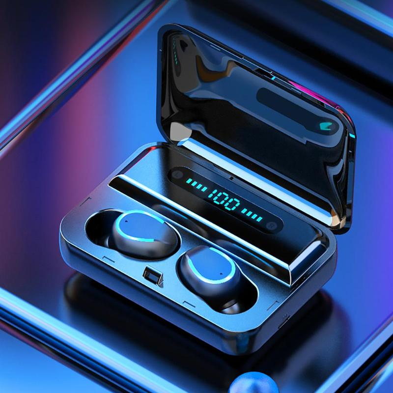 ALLOYSEED F9-<font><b>5</b></font> Mini <font><b>TWS</b></font> Bluetooth Earphone Stereo Bluetooth <font><b>5</b></font>.0 In Ear Earphones Sports Headset True Wireless Earbuds WIth Mic image