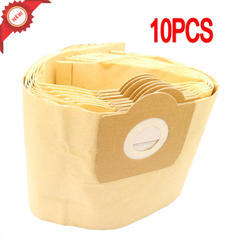 10PCS Dust Bags Filter for Karcher MV3 WD3 WD3200 WD3300 A2204 A2656 Vacuum Cleaner Paper Bags For Rowenta RB88 RU100 RU101 цена 2017