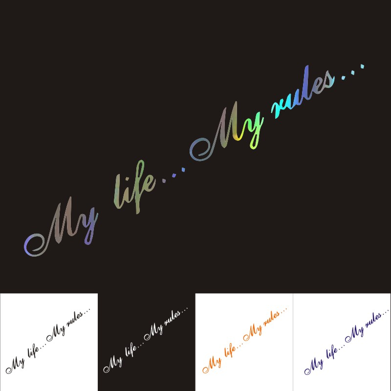 My Life...My Rule Car Stickers And Decal Creativity Cover Scratches Motorcycle Bumper Window Car Accessories KK40*8cm