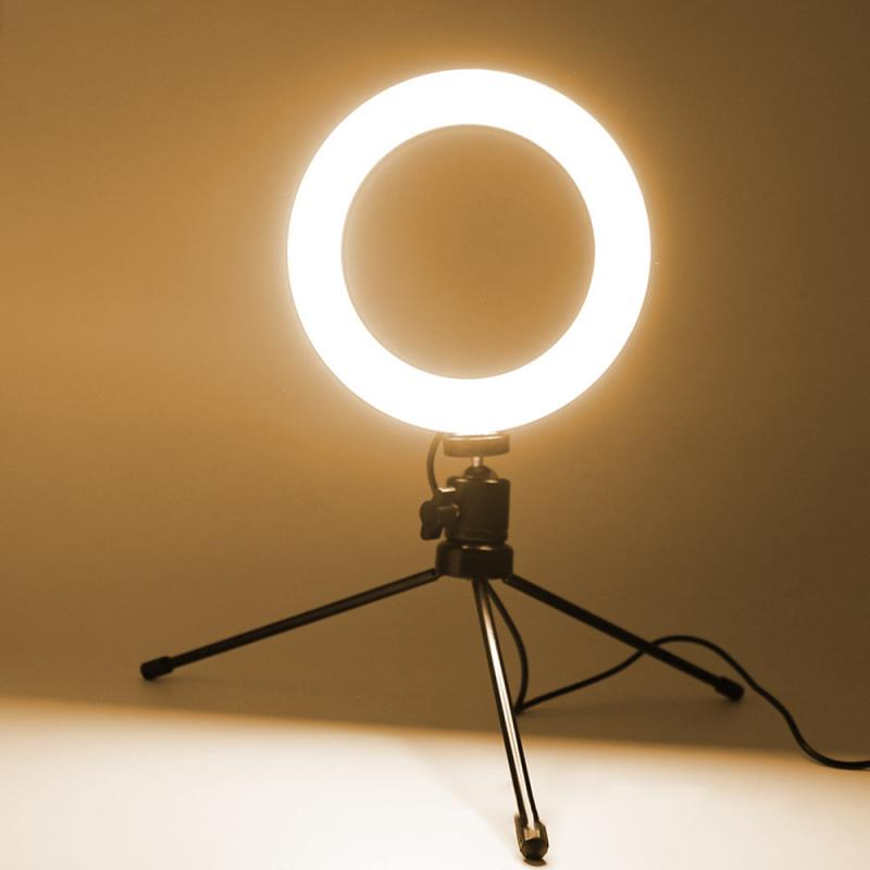 LED Ring Light 8/6'' Camera Ringlight Tripod Stand Phone Holder Makeup Youtube Live Tiktok Photography Video Kit Live Stream