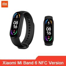 100% Original Xiaomi Mi Band 6 NFC Fitness Tracker Touch Screen Smart Wristband Miband 6 Heart Rate Monitor Blood Oxygen
