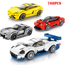Speed Champion Supercar Car City Building Blocks Compatible Legoed Technic Racing Sports Car Bricks Gifts Toys For Children Boys(China)