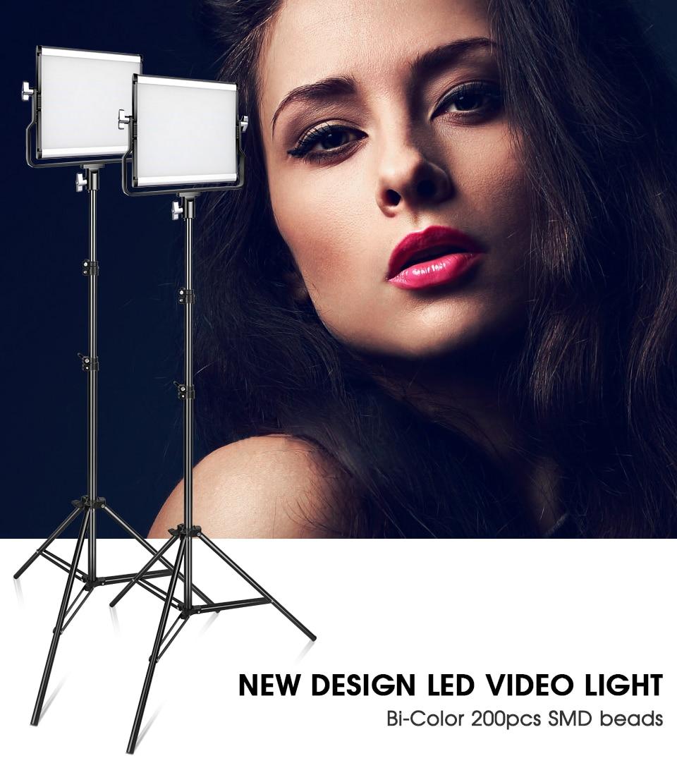 Hc31c1d74ec074f298988e3e0f8db40b3b Travor Dimmable Bi-color 2set LED Video Light Kit with U Bracket 3200K-5600K CRI96 and Bag for Studio Photography Video Shooting