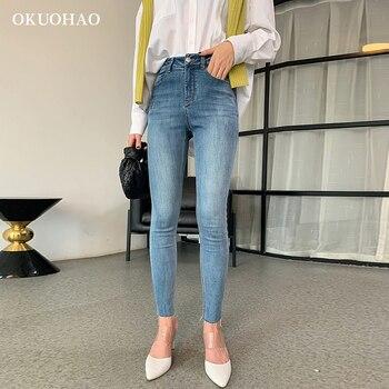 Womens Jeans High Waist Woman Plus Size Pencil  Denim Pants Skinny Fashion Washed Boyfriend 2020 Streetwear