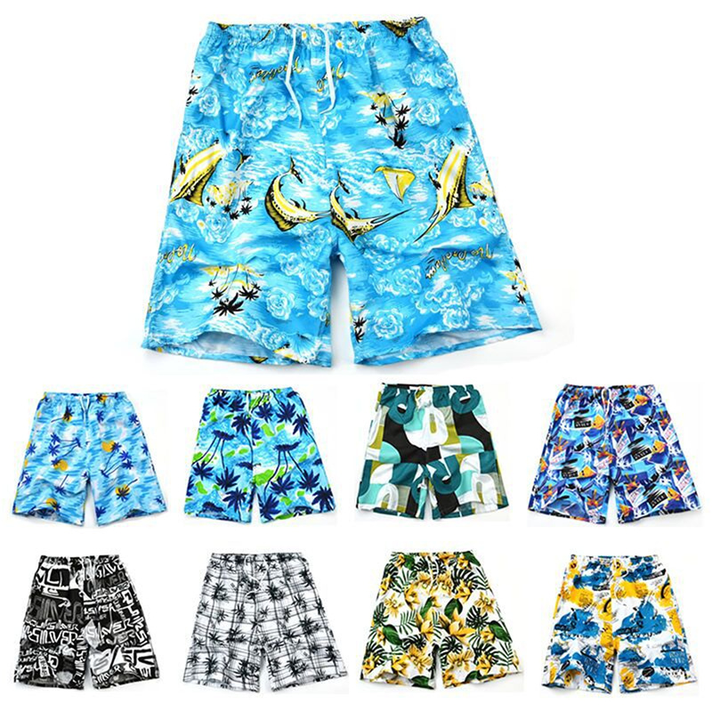 Men Casual Shorts Printed Beach Quick Dry Board Breathable Waterproof  Pant One Size 22 Styles 2