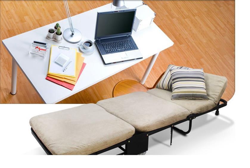Односпальная кровать для обеда, Офисная трехслойная губчатая складная кровать, простая кровать для отдыха