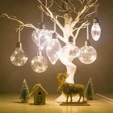 Christmas Bulb Simulation Bulb Christmas Tree Lighting Pendant Pet Shaped Filament Christmas Ball Hanging on Xmas Tree Decoratio(China)