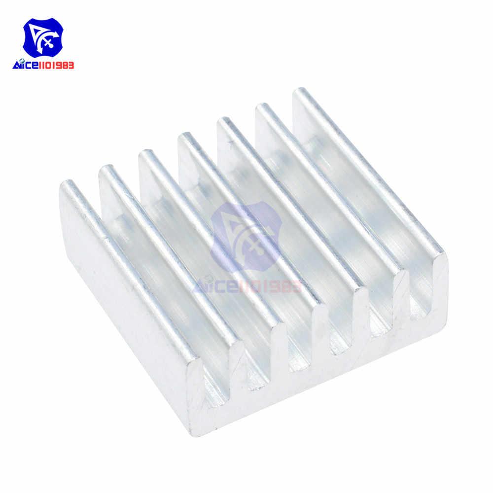 Diymore 10 sztuk/partia aluminium radiator wysokiej jakości 14x14x6mm radiator dla Arduino Raspberry Pi IC Chips