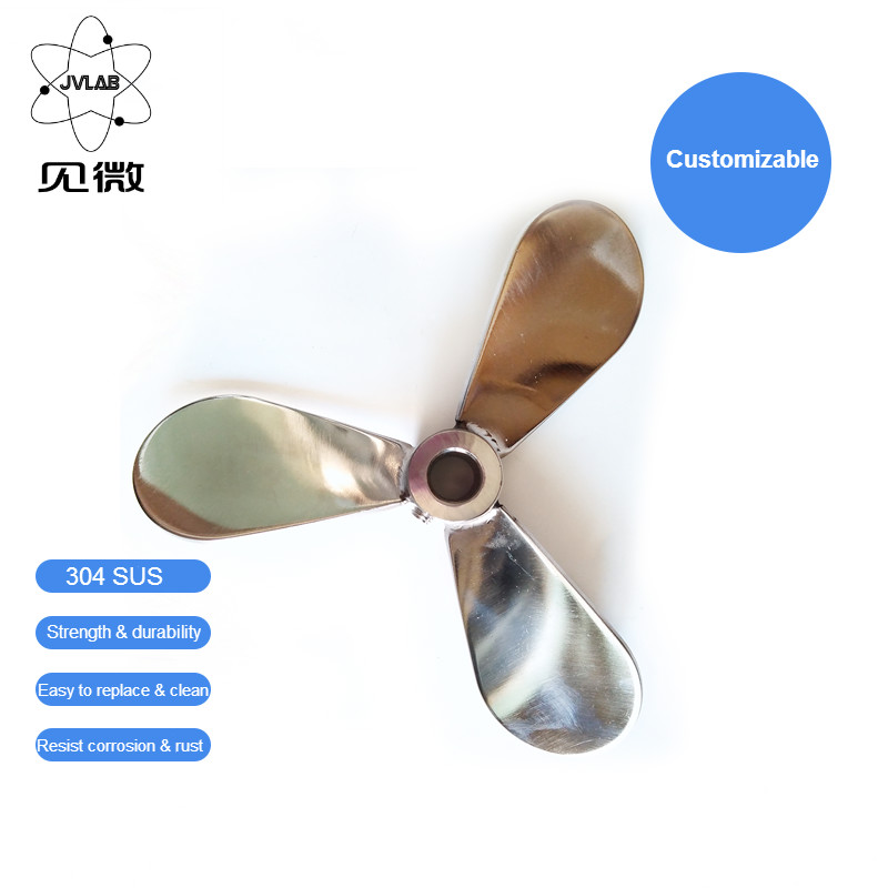 Stirring Blade Stainless Steel Mixer Impeller Lab Stirrer Paddle Three-blade Diameter 150 Mm Inner Hole Aperture 16 Mm
