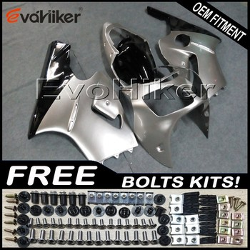 Custom fairing motorcycle bodywork kit for ZX-12R 2000-2001 ABS motor panels Injection mold silver+gifts