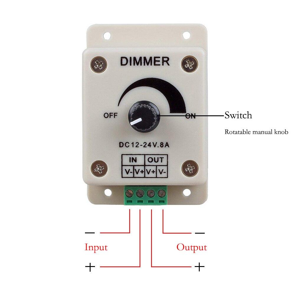 dimmer ajustavel brilho controlador monocromatico controlador de 02