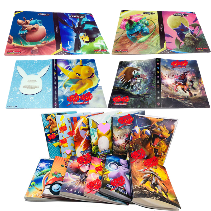 Cartoon Anime 240 Pcs Holder Album  Toy Collection Game  Pokemones  Cards Album Book Top For Kids Gift
