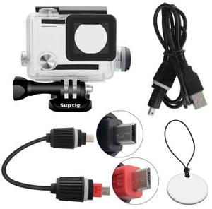 Image 5 - Suptig 5200 7800mah防水パワー銀行バッテリー充電器防水ケース移動プロヒーロー8/7/5/4/3アクションカメラSJ8 H9R充電ボックス