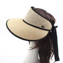 Empty-Sun-Hat Breathable Sunscreen And Airy Sweat-Belt-Design Bow-All-Match