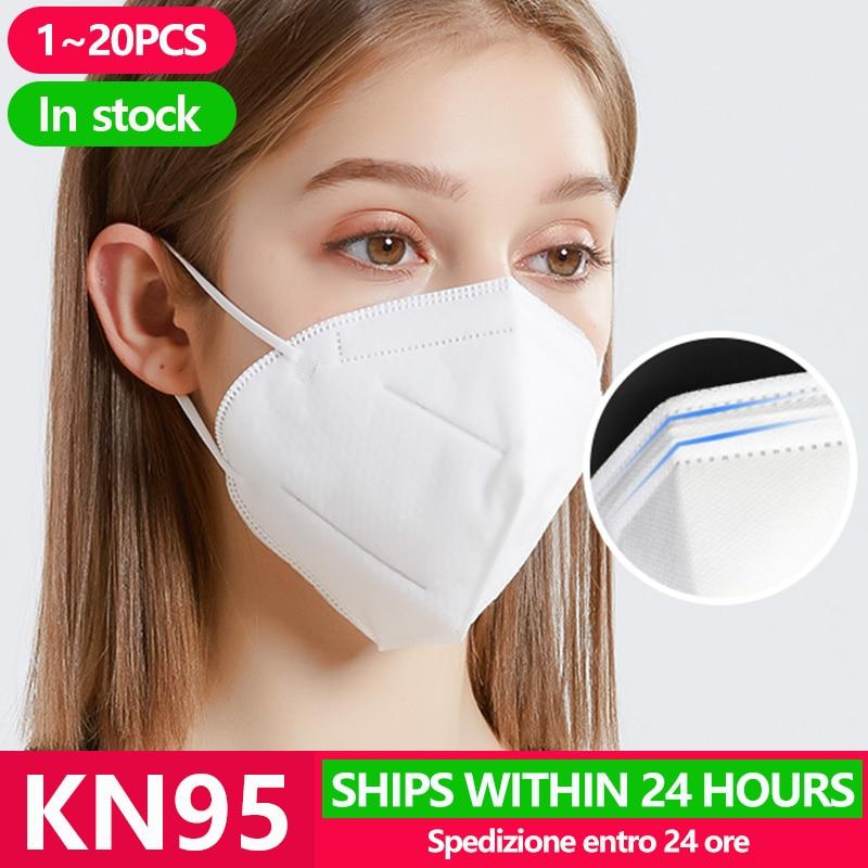 10PCS Antivirus KN95 Face Masks Anti Coronavirus Mouth Cover Flu Facial Dust Filter Corona Virus Pm2.5 Mask N95 Surgical Mask