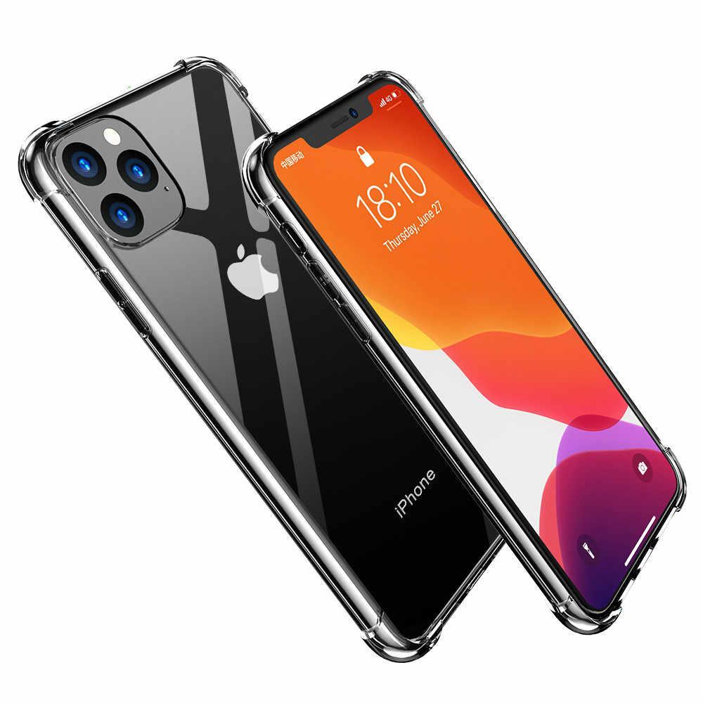 Per Il Caso di Iphone 11 Pro Max 2019 X Xs Max Copertura Antiurto in Silicone Trasparente Molle di Tpu Trasparente di Caso per Il Iphone xr Silm Della Copertura Posteriore