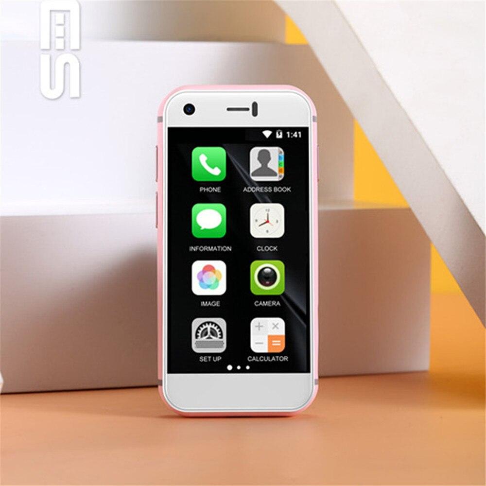 Original New Version Mini Android Smart Cellphone High Resolution Screen Quan Core 1GB RAM 8GB ROM 5.0MP Dual SIM Phone SOYES 7S