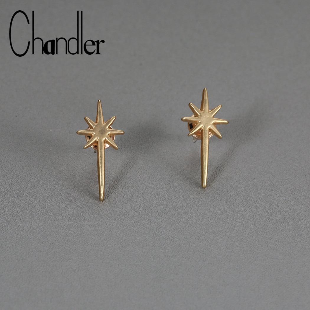 Chandler 1pcs Star Ear Climber Falling Star Earrings Ear Crawlers Dainty Ear Climbers Meteor Galaxy Stud oorbellen pendientes