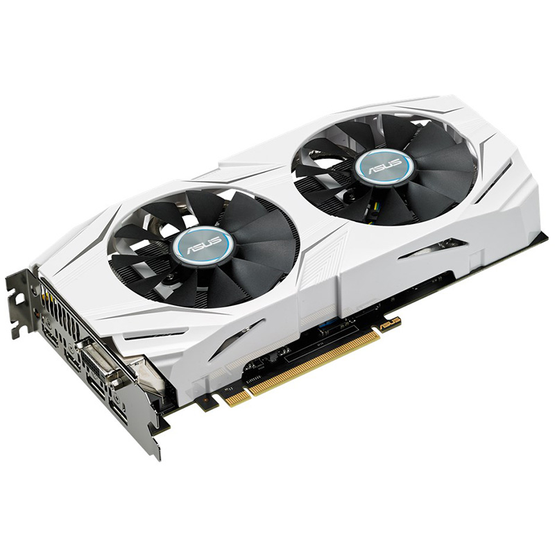 ASUS used GTX1060 6G game independent graphics card snow leopard DUAL-GTX1060-O6G desktop computer 6g alone significantly image