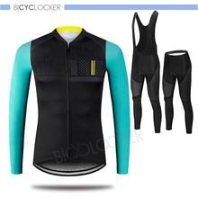 купить MTB Clothing Pro Team Long Sleeve Cycling Jersey Set Autumn Bicycle Outdoor clothes Breathable Racing Bike Sportswear Quick Dry дешево
