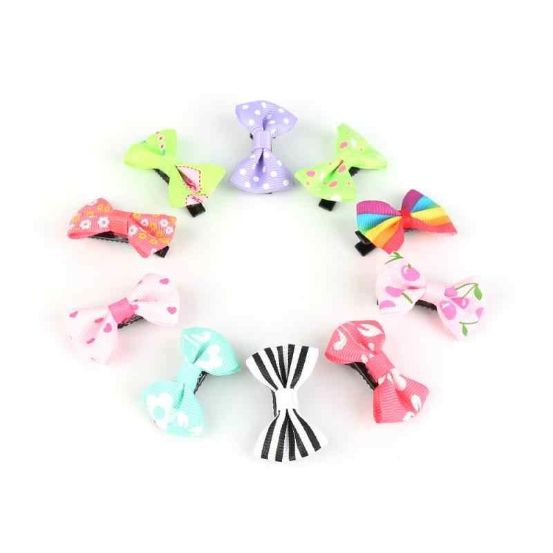 10 unids/lote pinzas para el pelo caramelos y flores de colores imprimir lazo cinta horquilla Horquillas para el pelo de niñas y bebés herramienta de estilismo gran oferta