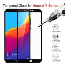 For Huawei Y6 Prime 2018 Glass for Huawei Y5 Prime 2018 Y3 Y6 Pro 2017 Y7 Prime Y9 2018 Y5 ii Screen Protector Protective Glass 9d glass for huawei y7 y9 2018 protective glass for huawei y9 2019 y9 prime y7 prime 2019 jkm lx1 p smart z screen cover film