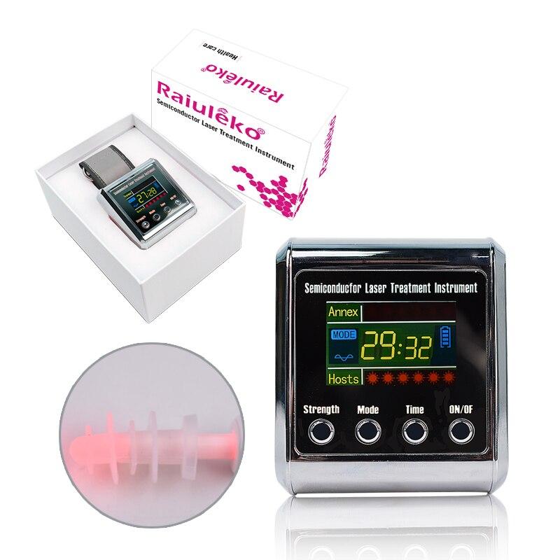 Instrumento de terapia láser saludable con láser 650nm para tratamiento de la presión arterial, la diabetes, la rinitis, El cholesterol-in Fisioterapia instrumento from Belleza y salud on AliExpress - 11.11_Double 11_Singles' Day 1