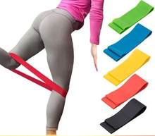 1000pcs/lot Resistance Bands Tube Workout Exercise Elastic Band Fitness Equipment Yoga Pink Yellow 500*50*0.35MM(China)
