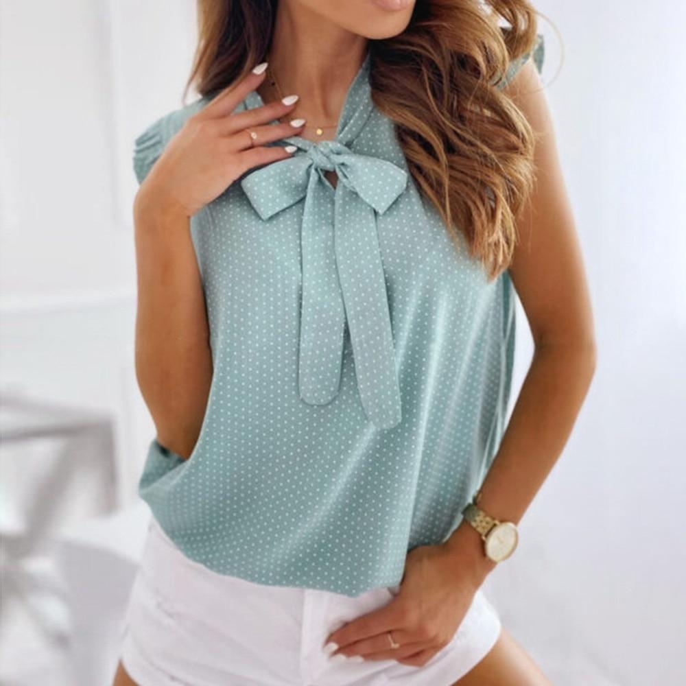 Chemise d'été à pois