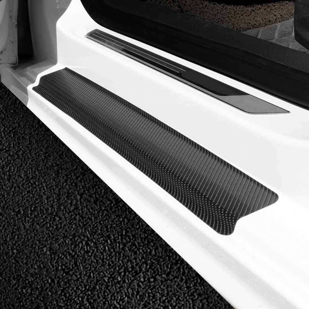Pegatina de Fibra de Carbono Accesorios para autom/óviles Placa de Desgaste Protector de Entrada umbral de Puerta Protector de alf/éizar de Puerta CAHM para Hummer H2 Pegatinas 4 Piezas