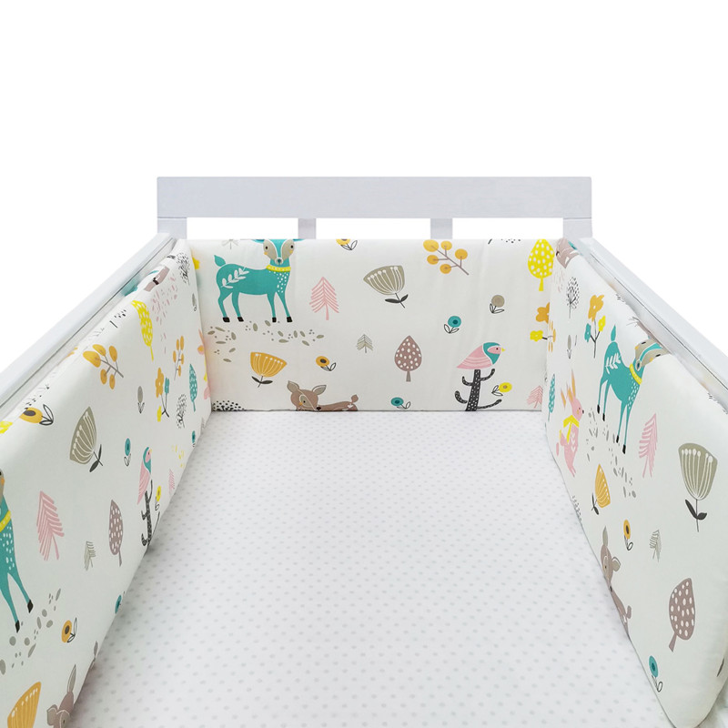 Collapsible Star Design Baby Bed Bumper Cotton Baby Crib Protection Pad Multicolor Cot Bumpers In Crib For Newborns