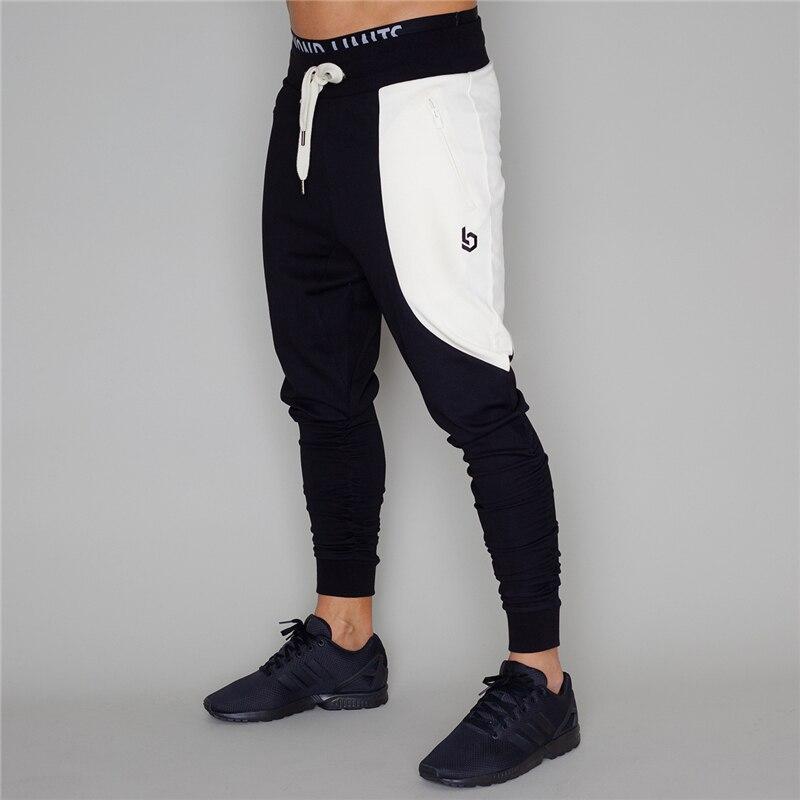 Autumn Pants Men Jogger Cotton Gyms Casual Bodybuilding Pants Breathable Elastic Waist Workout Male Sweatpants