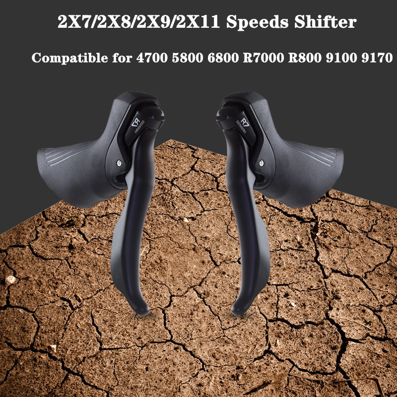 SENSAH caja de cambios de bicicleta de carretera 2 × 8/2 × 9/2x11 7 2X10 palanca de velocidad freno bicicleta desviador Groupset Compatible para 5800 6800 R8000 4700