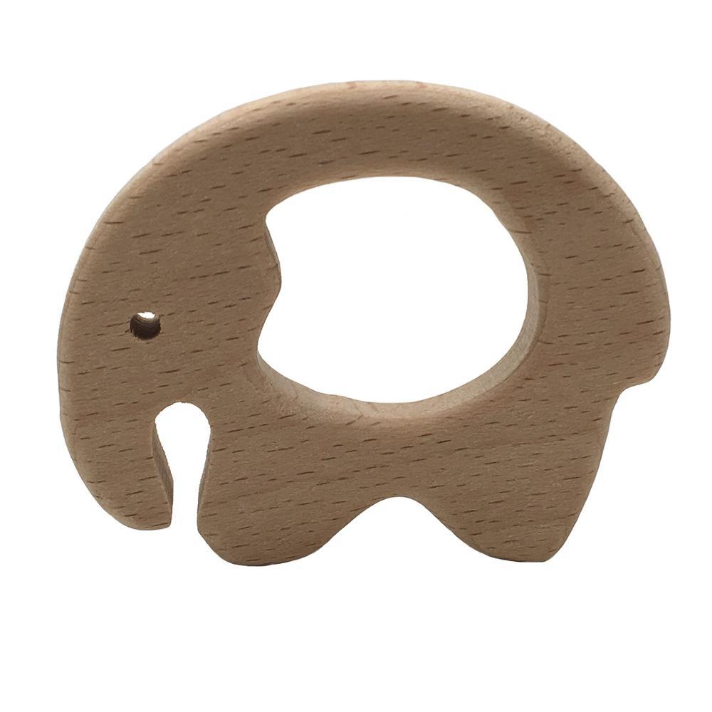 New 1pcs Baby Teether DIY Nursing Pendant Teething Toys Cute Animal Shape Food Grade Materials Organic Chew Gift Wooden Teether