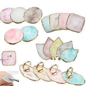 Смола камень клей для ресниц кольцо-держатель на палец пластина для ногтей Цвет кольцо с палитрой Гель-лак основа, смешивание Косметика для ...