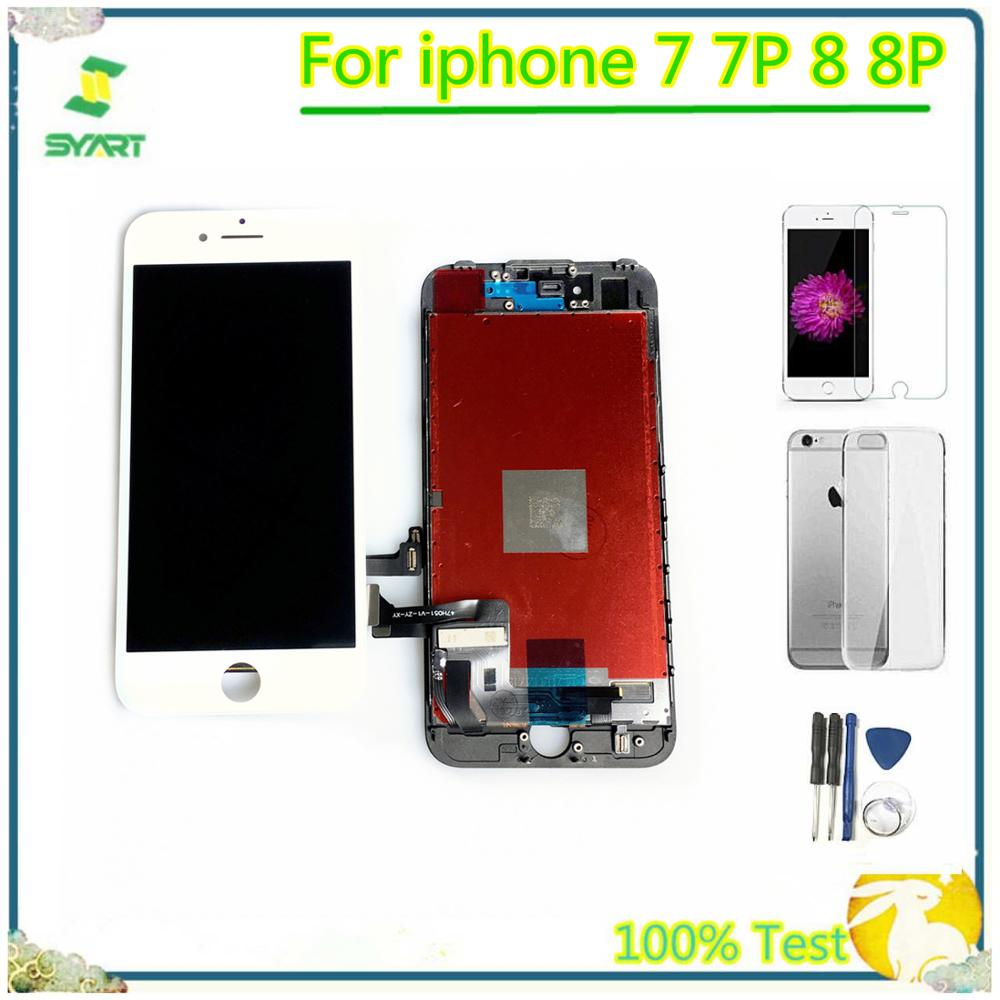 100% Tested LCD Display For Iphone7 Touch Screen Digitizer Assembly Replacement Accessories For Iphone 7G 7 Plus 8G 8 Plus 8Plus