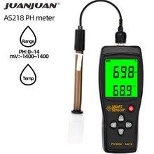 Digital PH Meter AS218 PH Tester Range 0.00~14.00pH Moisture Measuring Instrument Water PH Acidity Meter LCD Display 30% off