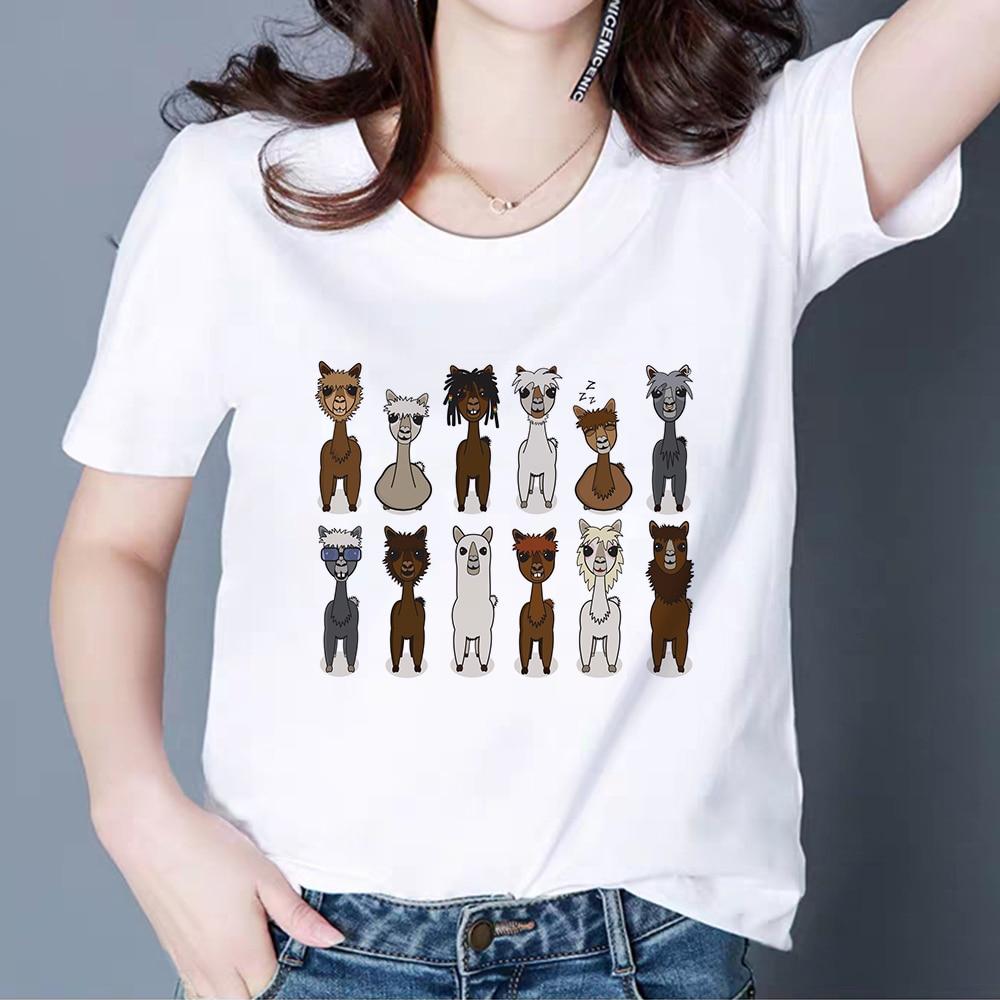 Летняя футболка в стиле панк, хип-хоп, альпака, Харадзюку, все размеры, уличная одежда, футболки, Недорогая модная повседневная футболка Ropa ...