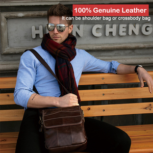 Image 4 - X。d。boloファッションメンズバッグ革メンズショルダーバッグ個人ポケットバッグ本革男性クロスボディショルダーバッグビジネスバッグ