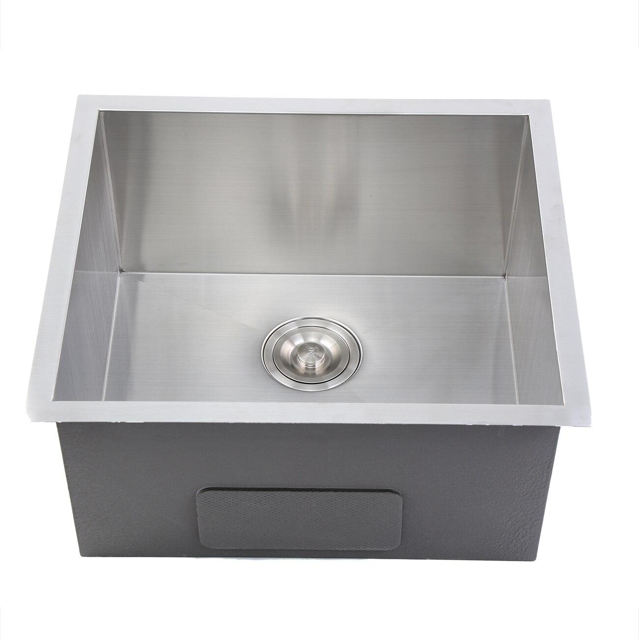 51x45x26 cm encart en acier inoxydable carré évier de cuisine unique encart/Topmount - 3