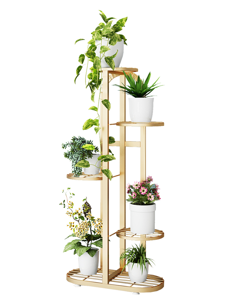Flower Shelf Multi-layer Household Shelf Iron Balcony Living Room Interior Modern Decoration Floor-standing Rack