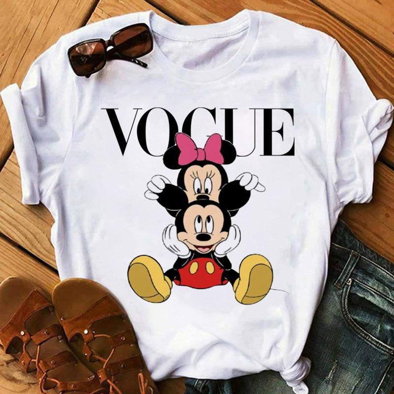 Cartoon Mouse T Shirt Women Casual Harajuku Tops Summer Tops Graphic Tees Women Micky Tee Shirts Kawaii T-shirt Clothes Femme