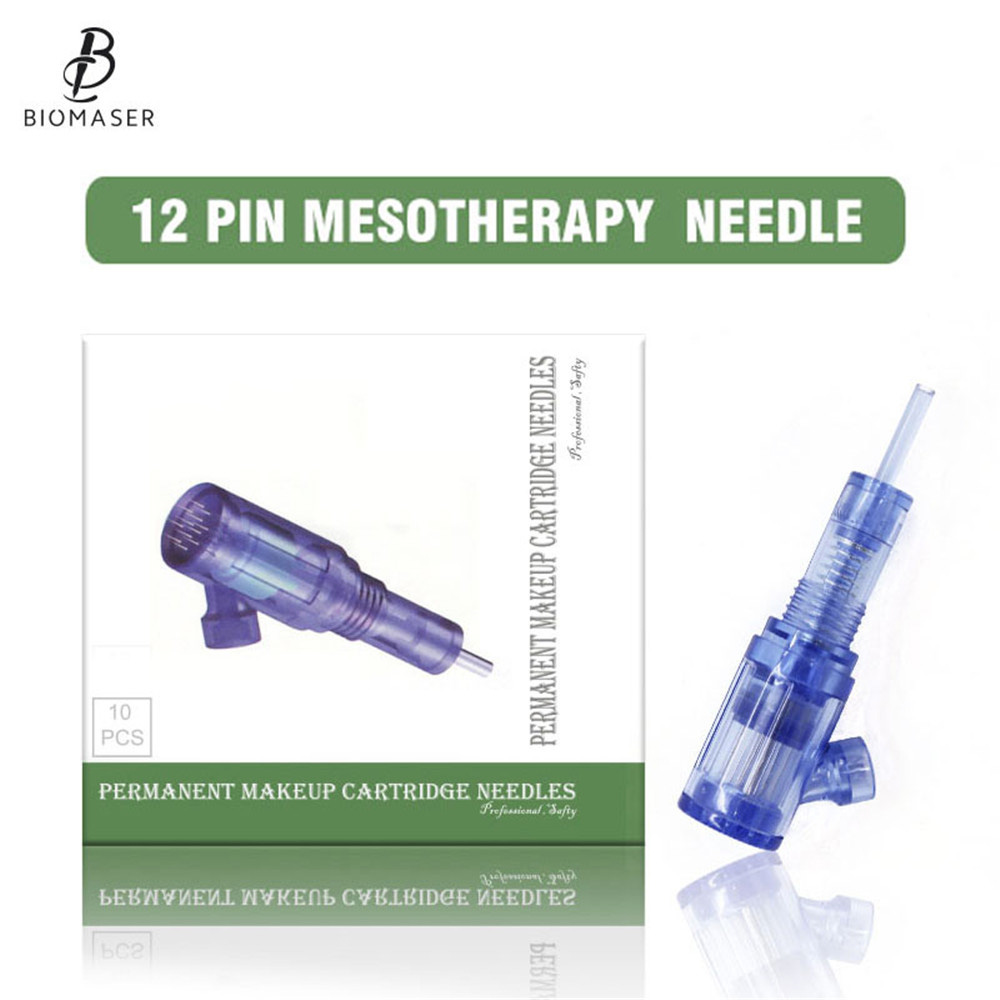 Biomaser Tattoo Cartridges Needles 12 Pin Mesotherapy For Auto Microneedle Biomaser Pen Tattoo Needles 12pin Needle Tip