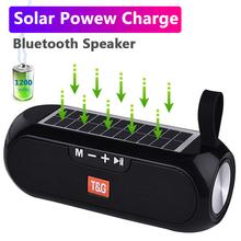 Przenośny głośnik bezprzewodowy Bluetooth kolumna głośnik basowy muzyka Stereo pudełko powerbank na energię słoneczną Boombox wodoodporna USB radio AUX FM super bas tanie tanio QCMO Liniowe Audio GŁOŚNIK ZEWNĘTRZNY Baterii Z tworzywa sztucznego Pełny Zakres 2 (2 0) CN (pochodzenie) 25 W NONE