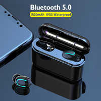 HBQ TWS Bluetooth Earphones V5.0 Earbuds Handsfree with IPX5 Waterproof Stereo Headset