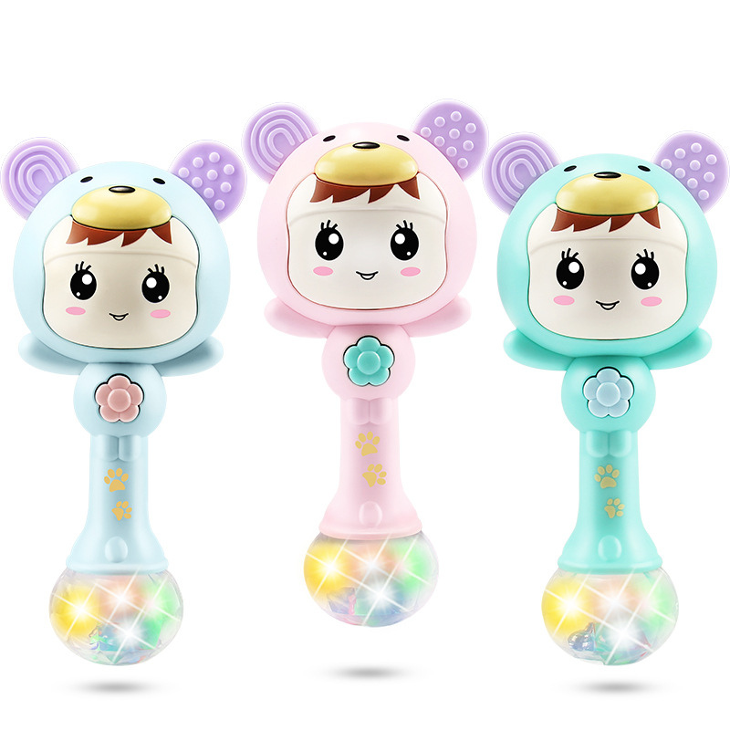 Baby Toys 0-1-Year-Old Rattle Hand Rattle Music Jie Zou Bang Newborn Children Baby 3-6-12 Month Educational