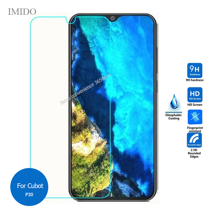 2PCS Tempered Glass Screen Protector For Cubot P30 R15 Pro X20 R19 A5 Power P20 Safety Protective Film on R 15 19 X 20 A 5(China)