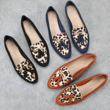 leopard print tops for women flats shoes women suede fringed leopard print shoes for women flats comfortable dress mujer flats william landay mission flats